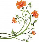 schöne Blumenmuster