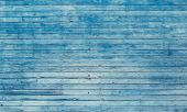 Old Blue Toned Shabby Wooden Planks With Cracked Color Paint poster