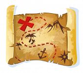 stock photo of treasure map  - Treasure map - JPG