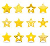 stock photo of pentagram  - stars  - JPG
