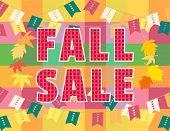 Template Design Poster Autumn Sale. Autumnal Leaf Color Flyer. Fall Season Special Fair Invitation B poster