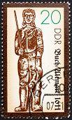Briefmarke DDR 1989 Statue des Roland, Buch Altmark, 1445
