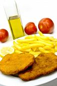 stock photo of pork cutlet  - cutlet breaded  - JPG
