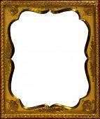 Scalloped Gold Frame