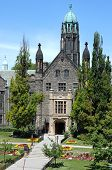 Gothic College Building With Garden