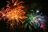 foto of firework display  - Color Fireworks Show Celebrate In The Anniversary - JPG