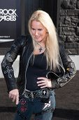 HOLLYWOOD, CA - JUNE 08: Lita Ford arrives at the 'Rock Of Ages' - Los Angeles Premiere at Grauman's