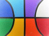 Raimbow Colored Basket Ball Background