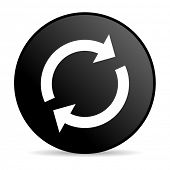 reload black circle web glossy icon