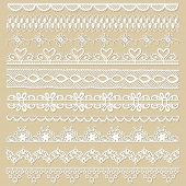 stock photo of lace  - Set of lace ribbons  - JPG