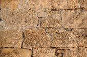 Close Up Of Sandstone Brick Wall
