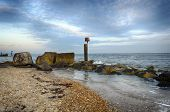 Hengistbury Head Beach Under A Mackerel Sky