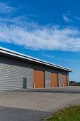 Warehouse With Brown Door