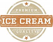 Vintage Premium Ice Cream Sign