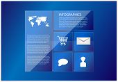 Vector Website Template In Blue Style