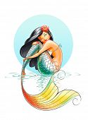 stock photo of mermaid  - mermaid fairy - JPG
