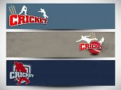 Cricket website headers or banners. EPS 10.