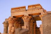 pic of ptolemaic  - Temple of Kom Ombo at dusk Located in Aswan Egypt - JPG