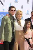 LOS ANGELES - APR 27:  Jim Carrey, Jane Fonda, Viva Vadim at the Jane Fonda Hand and FootPrint Cerem