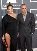 LOS ANGELES - FEB 10:  Jennifer Lopez & Casper Smart arrives to the Grammy Awards 2013  on February