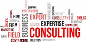 foto of exclusive  - A word cloud of consulting related items - JPG