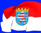 Flag Of Hessen, Germany.