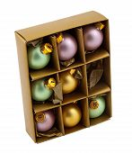 Christmas Decoration Bubles In Box