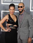 LOS ANGELES - FEB 10:  Alicia Keys & Swizz Beatz arrives to the Grammy Awards 2013  on February 10,