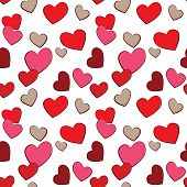 Valentine's Day Hearts Love vector seamless pattern