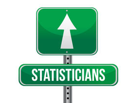 picture of statistician  - statisticians road sign illustration design over a white background - JPG