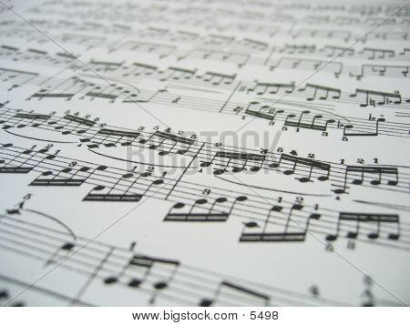 Sheet Of Music poster