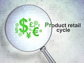 Marketing concept: Finance Symbol and Product retail Cycle