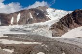 Mountain landscape of glacier. Tien Shan