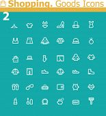 Shopping. Clothes and personal accessories icon set