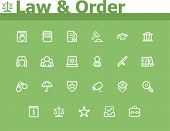foto of law order  - Law and Order icon set - JPG