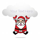 stock photo of merry chrismas  - Clip art merry chrismas santa happy - JPG