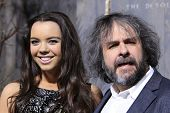 LOS ANGELES - DEC 2: Katie Jackson, Peter Jackson at the premiere of Warner Bros' 'The Hobbit: The D