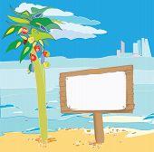 Beach Signpost