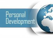 foto of personal assistant  - Personal Development concept with globe on white background - JPG
