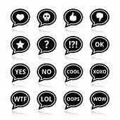 Speech bubble emotion icons