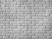 Monochrome Brick Wall Background.