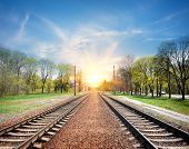 Railroad at sunrise
