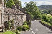 stock photo of swales  - The village of Muker - JPG