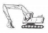 Doodle excavator drawing