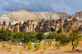 stock photo of chimney rock  - Probably the best known feature of Cappadocia - JPG