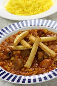 khoresh gheimeh, lamb & yellow split pea stew, iranian persian cuisine