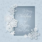 Christmas greeting card - Snowflakes frame