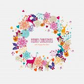 Christmas Wreath Holiday Elements Illustration
