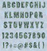 Cracked paint - Alphabet Set