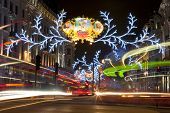 London Christmas Lights On Regent Street